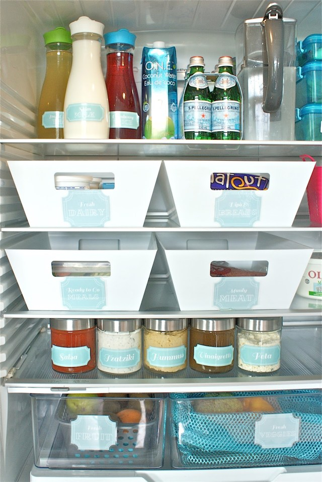 fridge containers organization