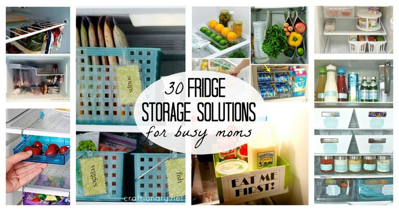 Fridge storage solutions at craftionary.net