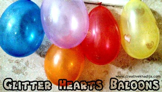 glitter hearts balloons