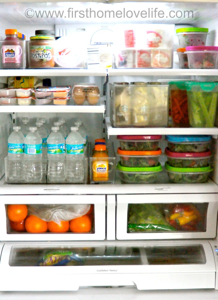 my organized fridge