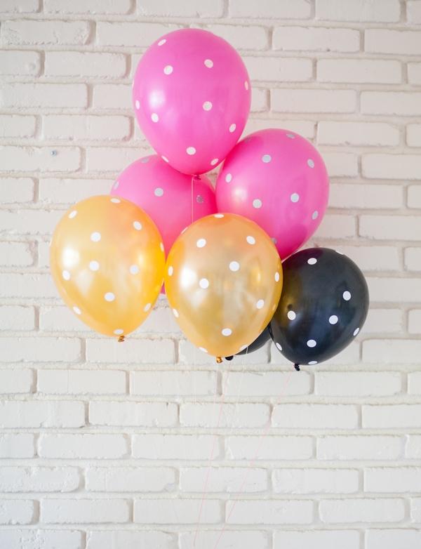 polka dots balloons