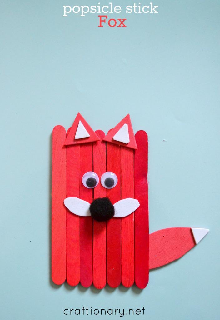 Popsicle stick fox tutorial