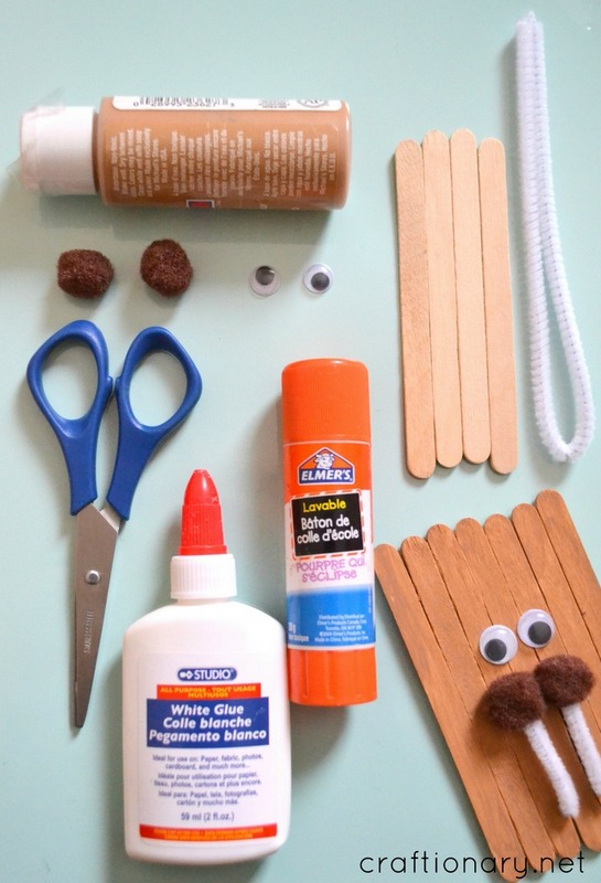Popsicle sticks walrus craft tutorial
