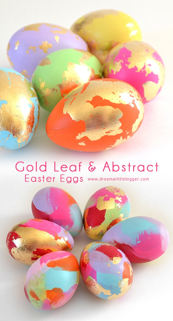 abstract golden easter eggs