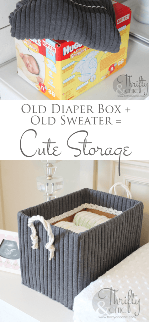 cute storage box DIY