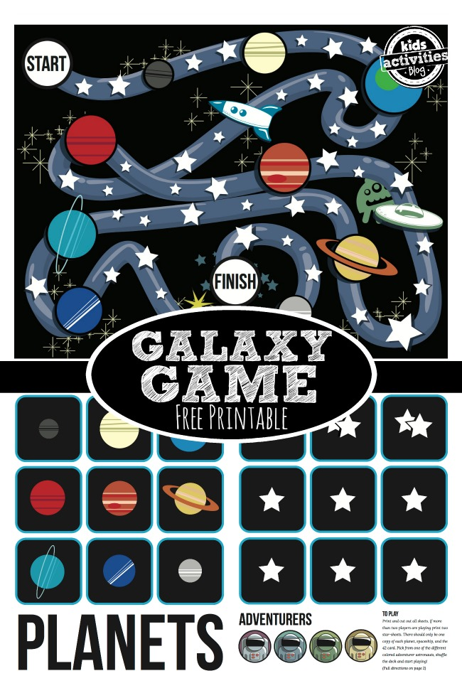 Free Printable galaxy Game