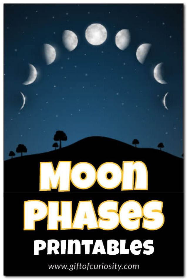 Moon phases printables