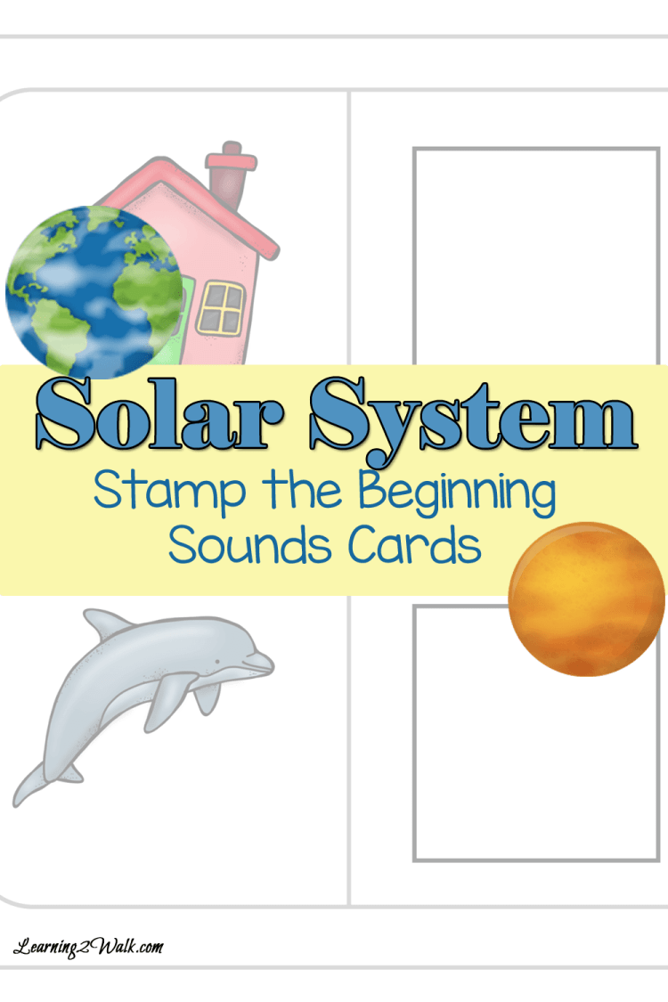 Solar System Stamp the Beginning Sounds