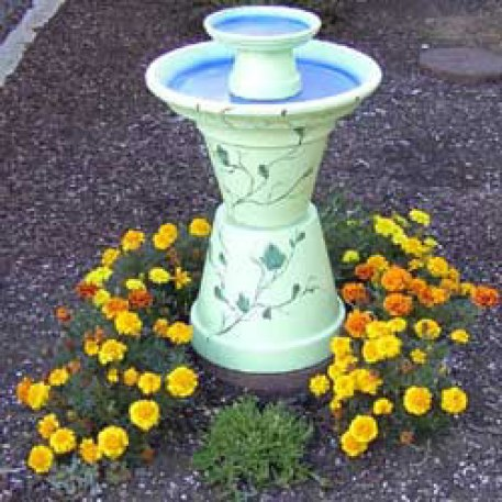 bird bath making