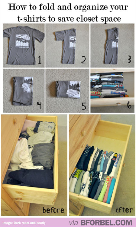 how to fold a tshirt