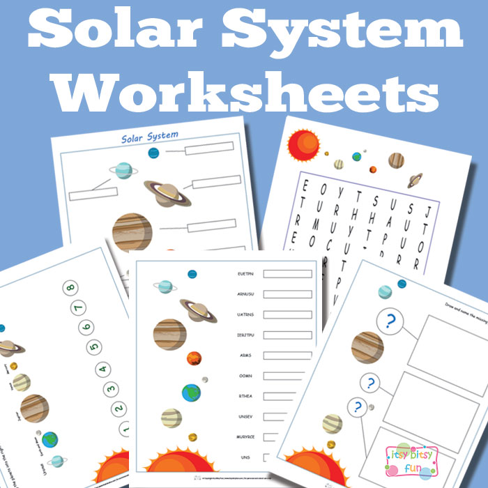 solar system worksheet