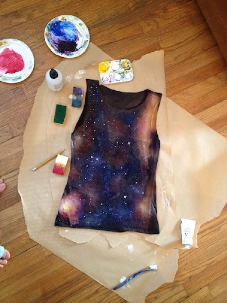 Create your own galaxy print shirt