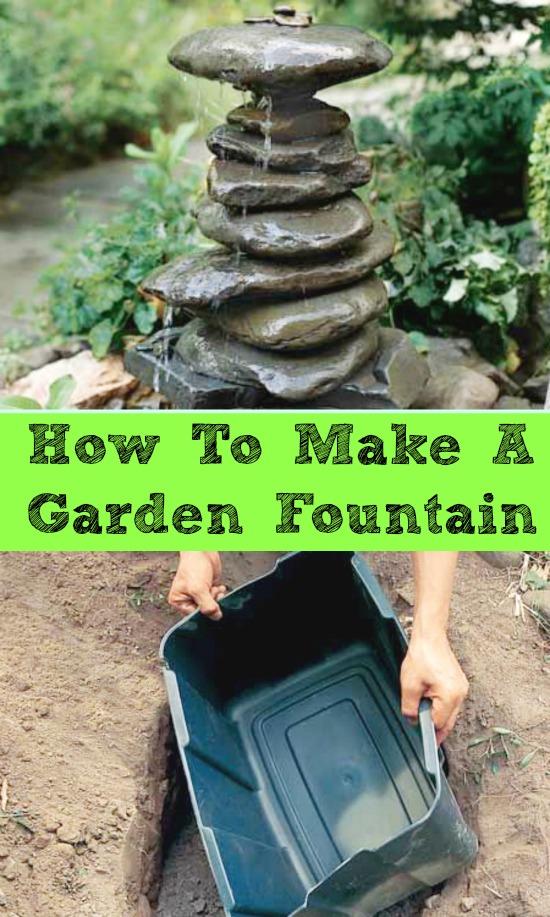 diy garden fountain