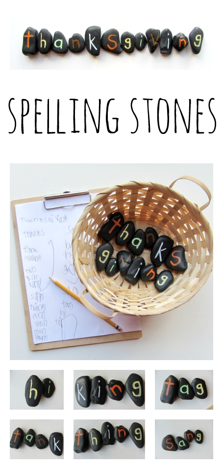 Spelling stones
