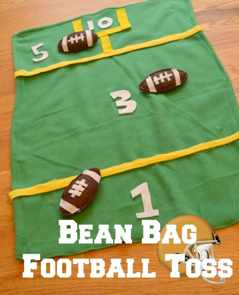 bean bag football toss game