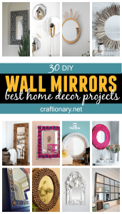 DIY wall mirrors tutorials and great ideas to decorate your home on a budget with stylish and luxuriously gorgeous looking mirrors to make statement in your house
