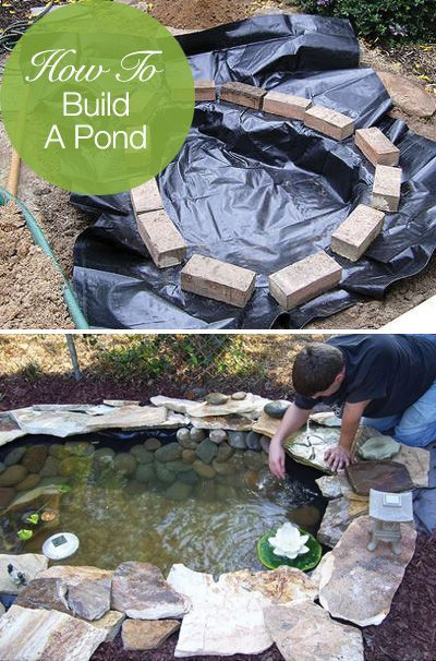 Making Pond Waterfall