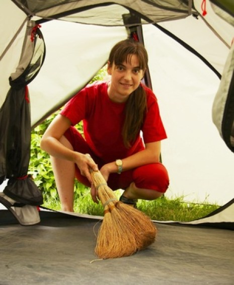 how to clean camping tent