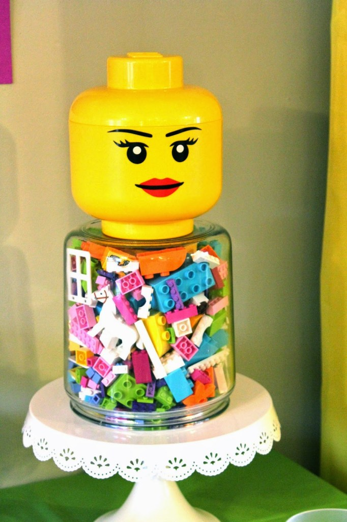 Lego gift in a jar