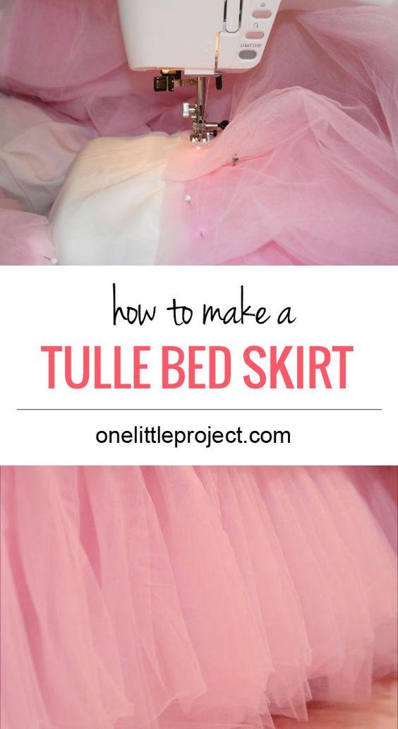 tulle bed skirt making