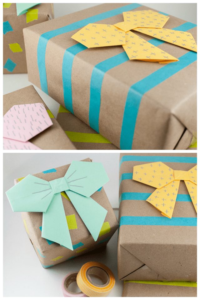 Origami paper bow