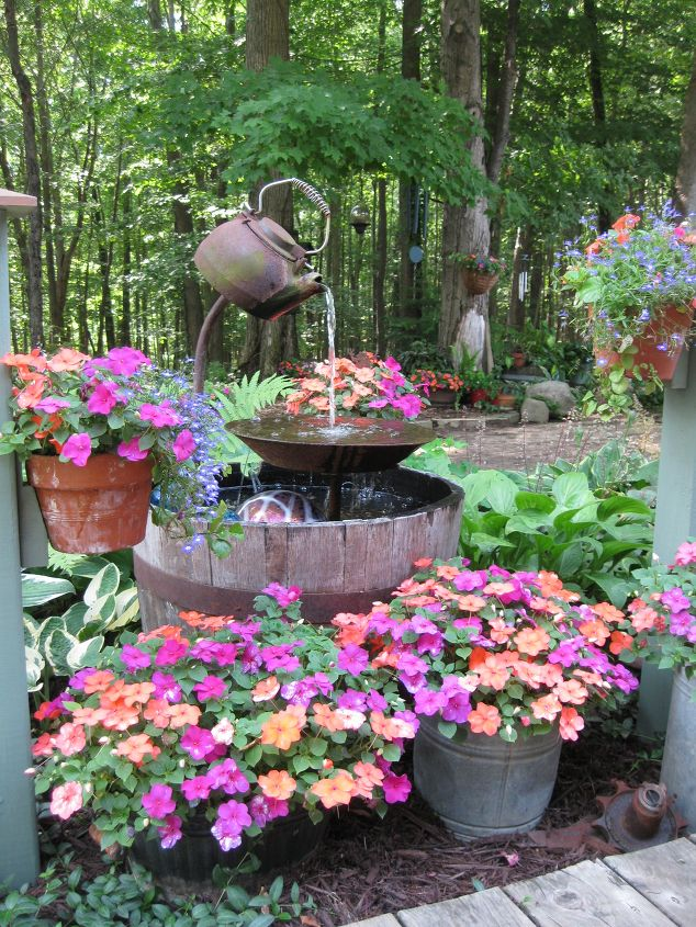 tea pot fountain for garden