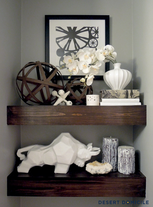 $15 chunky wooden floating shelf