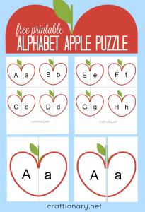 Alphabet puzzle free printable