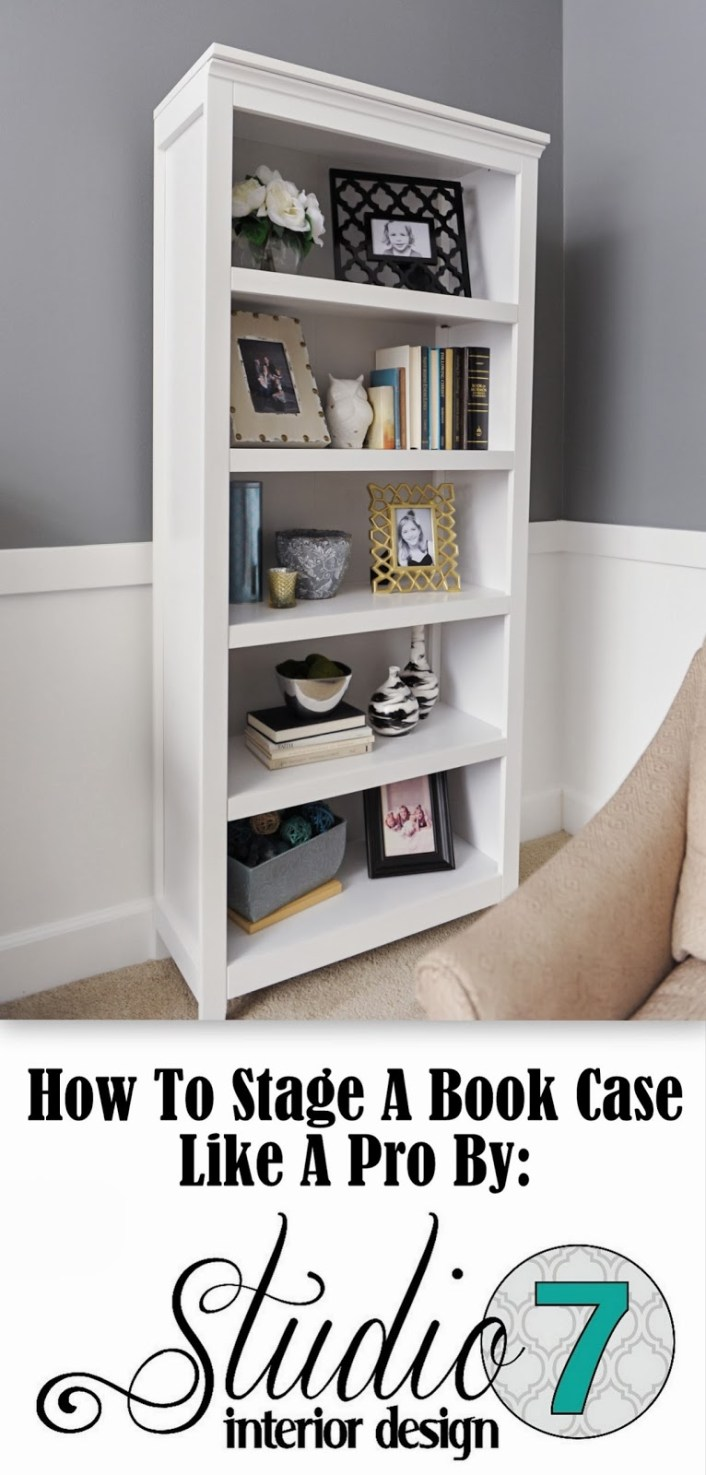 how to stage a bookcase