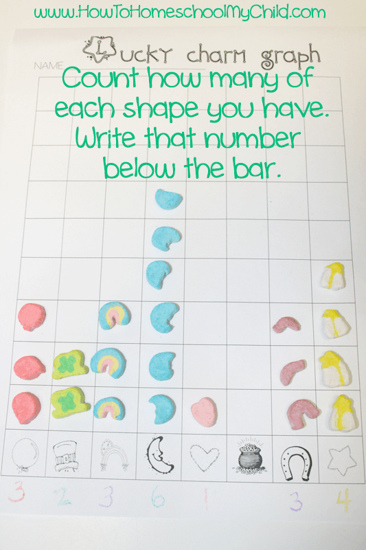 Lucky charms math activity - teaching kids about graphs