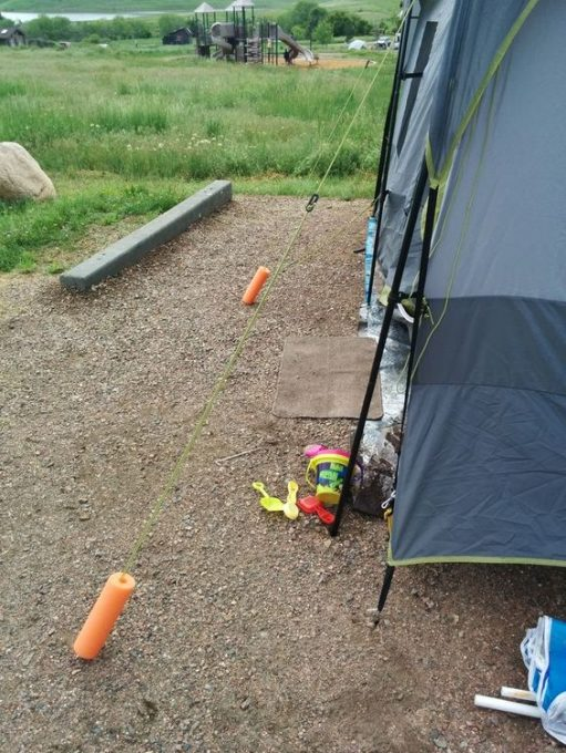 pool noodle safety trick camping