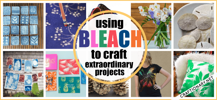 Using bleach to craft projects that are extraordinary and stylish