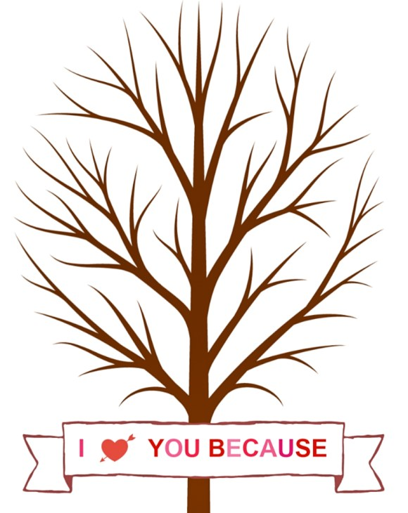 valentine tree free printable