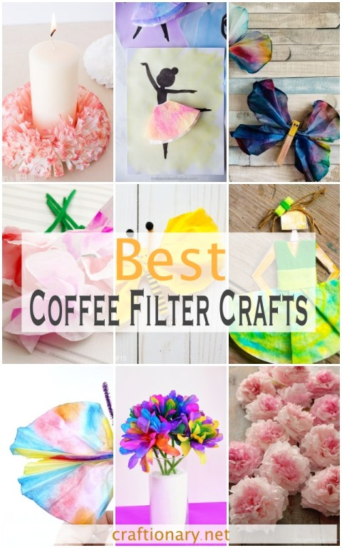 Coffee-filter-crafts-flowers-butterfly-art-projects