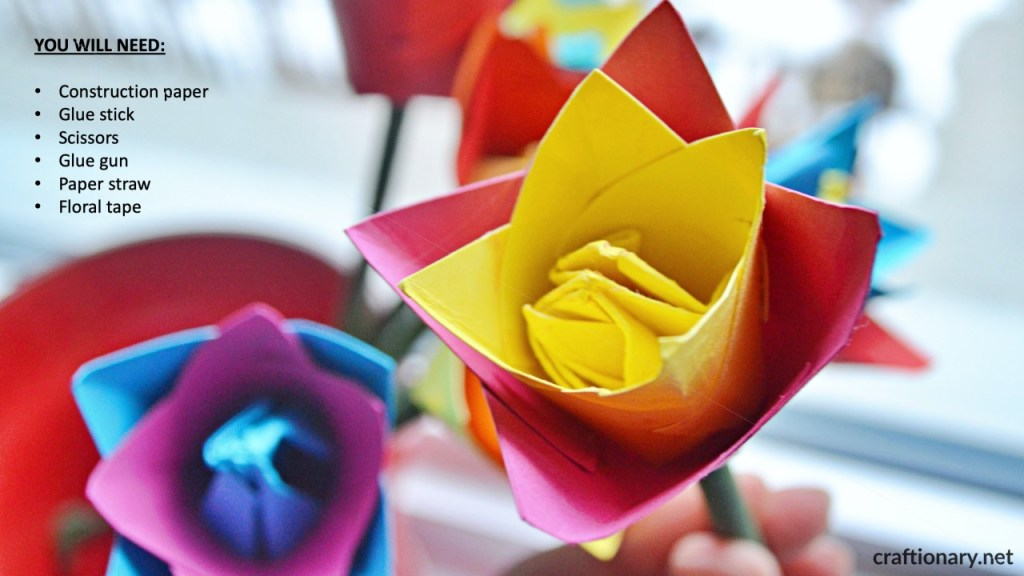 supplies-origami-tulip-flower-craft