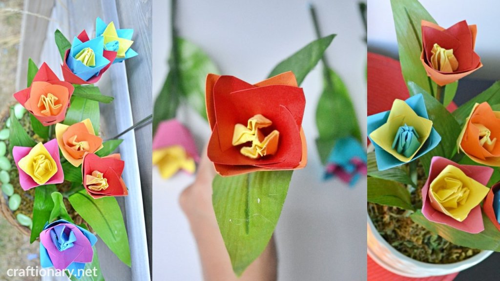 decorate-with-origami-tulips