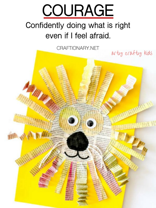 courage-paper-lion-craft-craftionary