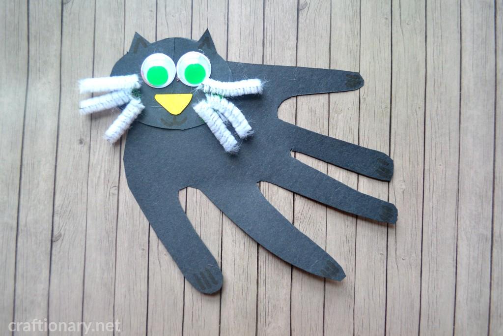 handprint-craft-cat-paper-cat-black
