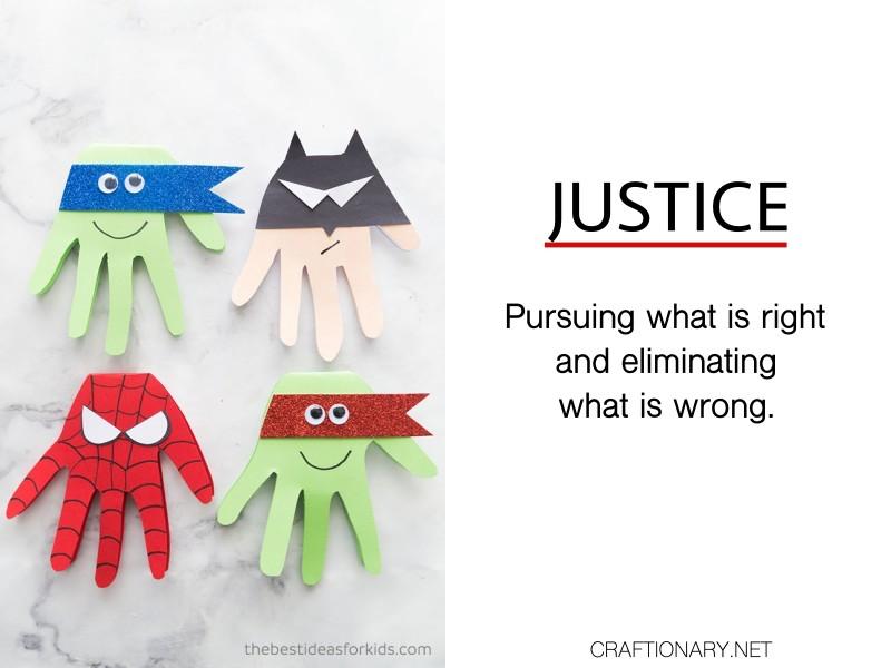 justice-Super-Hero-Craft-character-trait-crafts-activities