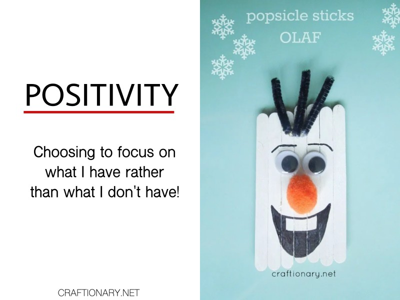 positivity-popsicle-sticks-olaf-snoman-character-trait-crafts-activities