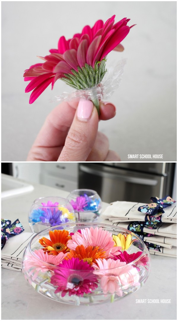 DIY-bubble-wrap-floating-flower-arrangement-idea