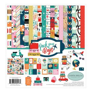 Carta Bella – Pack Your Bags Collection Kit 12×12