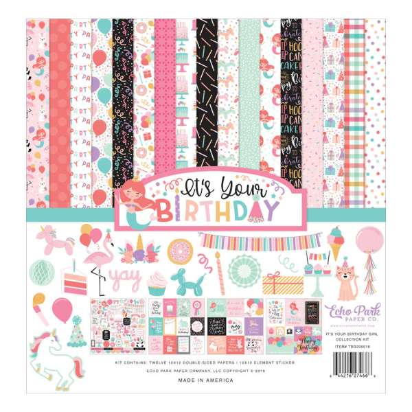 Tbg200016 Its Your Birthday Girl Collection Kit 12x12 Craftipity