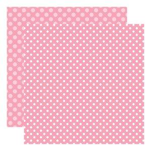 Echo Park Dots & Stripes – Raspberry Dot