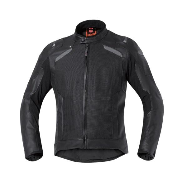 triple layer mens motorcycle leather jacket black