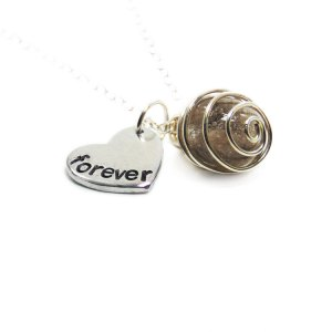 Forever in my heart necklace with cremation bead