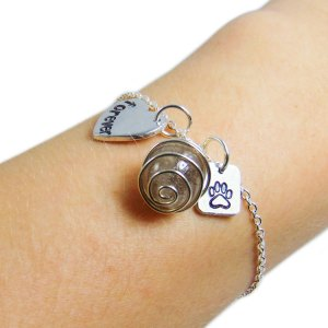 In loving memory sterling silver bracelet