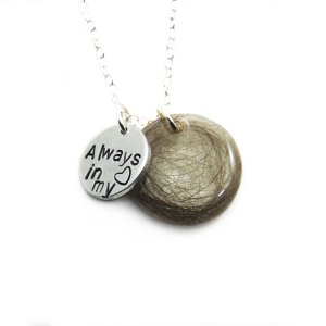 Cremation necklace with always in my heart charm