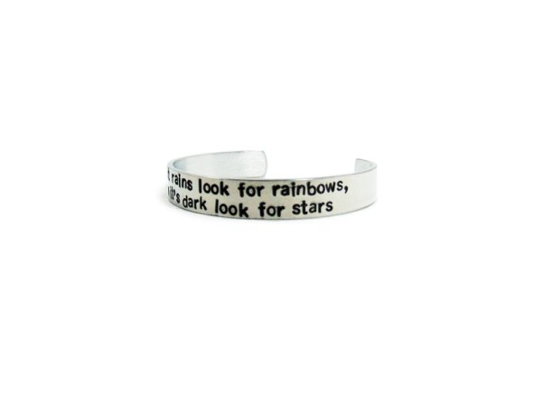 personalized message cuff