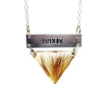 hair memorial necklace